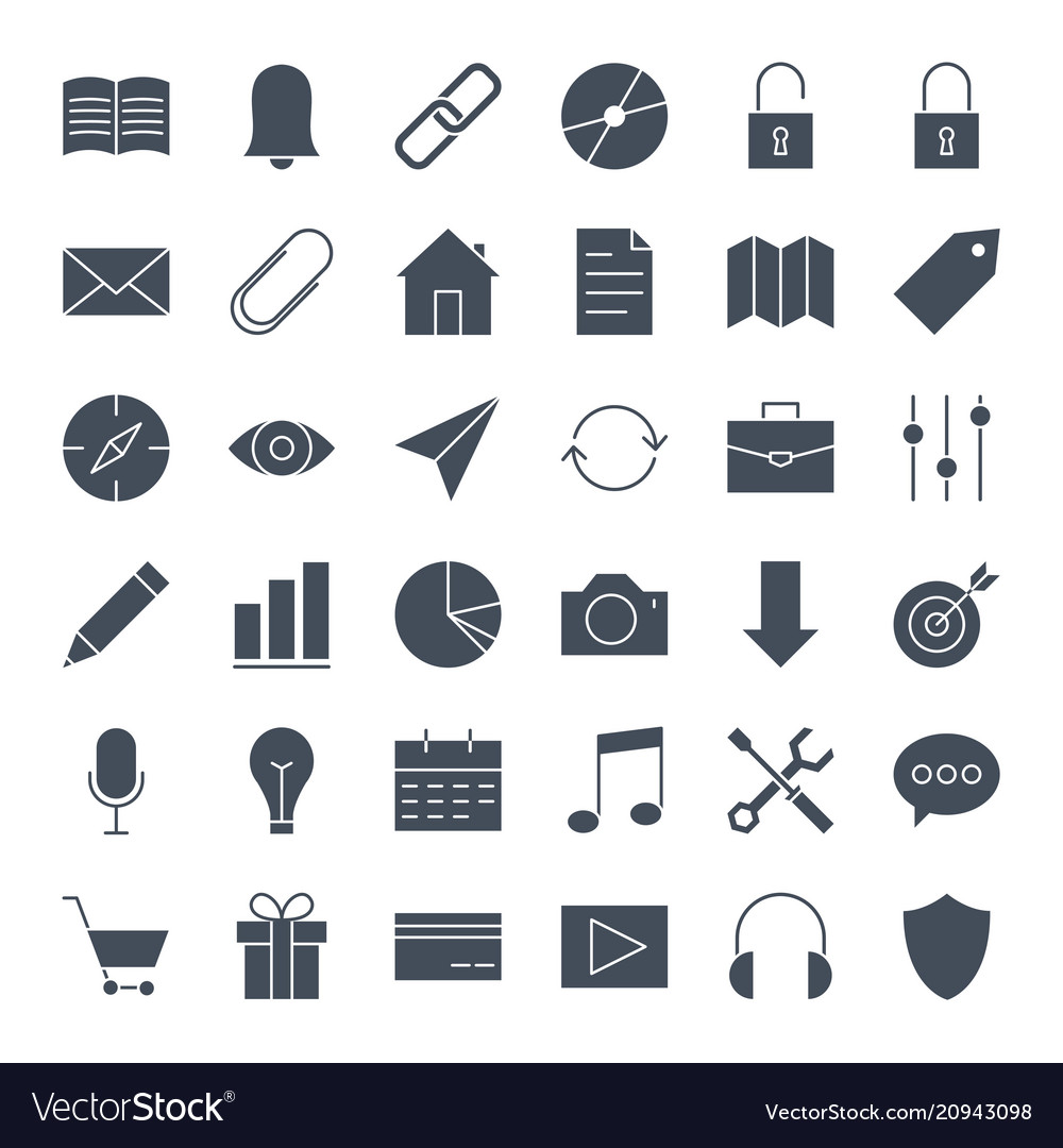 User interface solid web icons