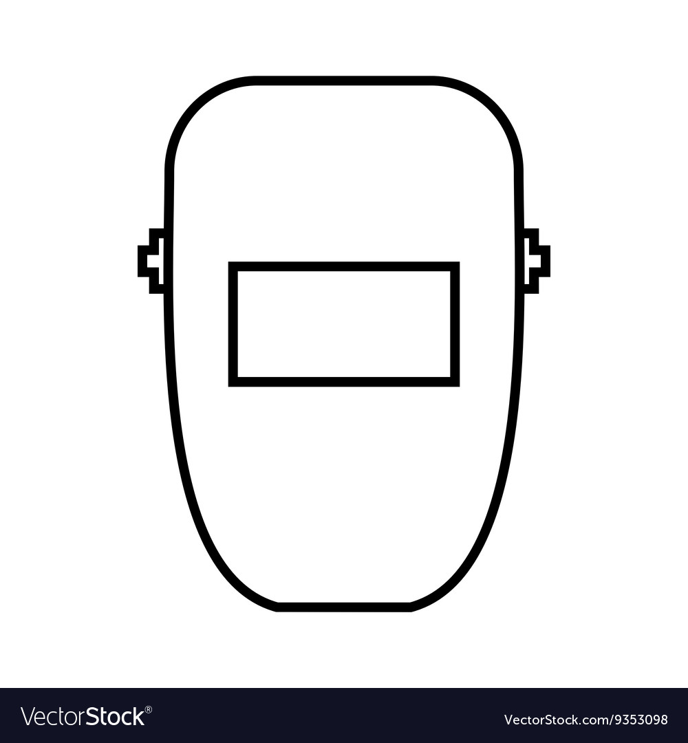 welding mask icon outline style Plasma Cutter Diagram