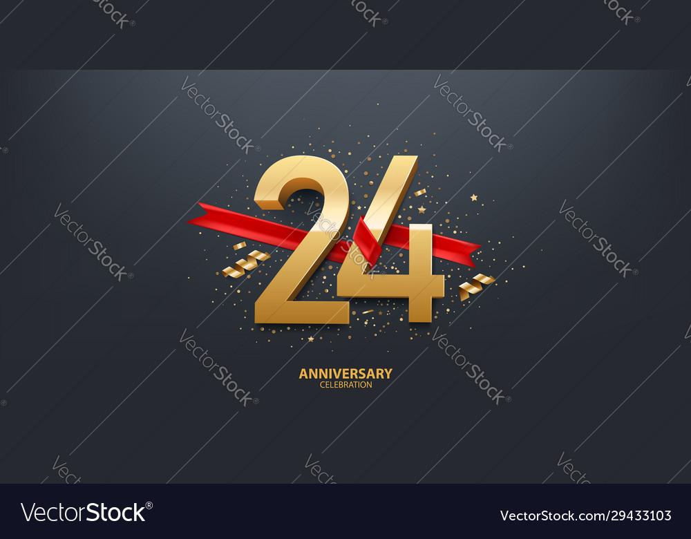 24th year anniversary background