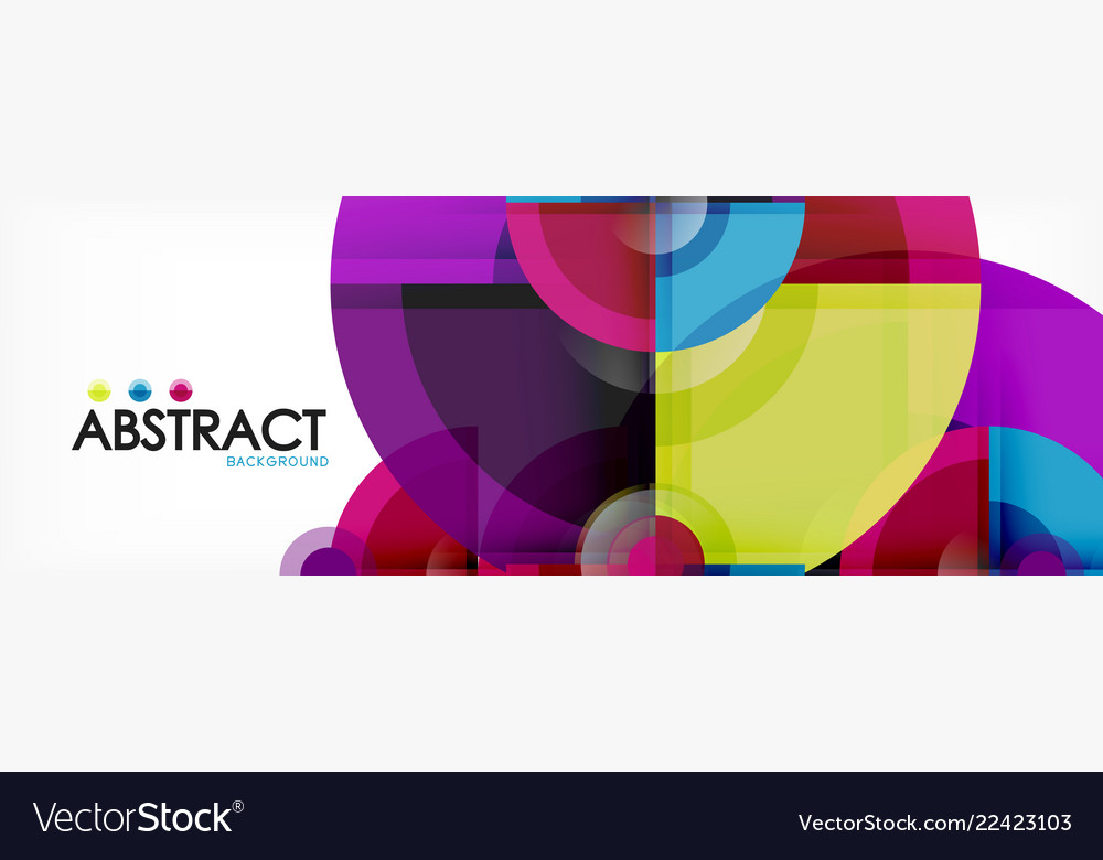Abstract background bright circles geometric