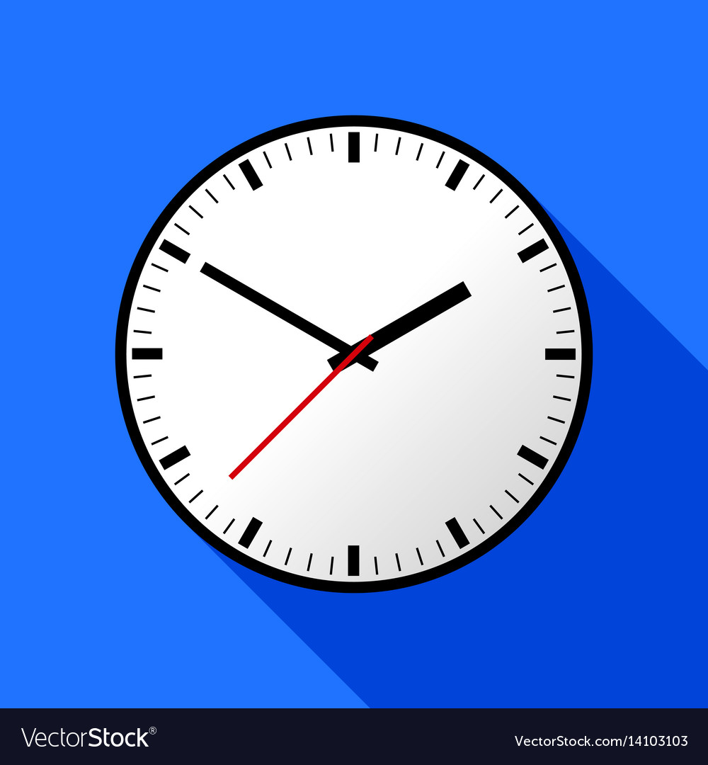 Clock icon flat design eps10