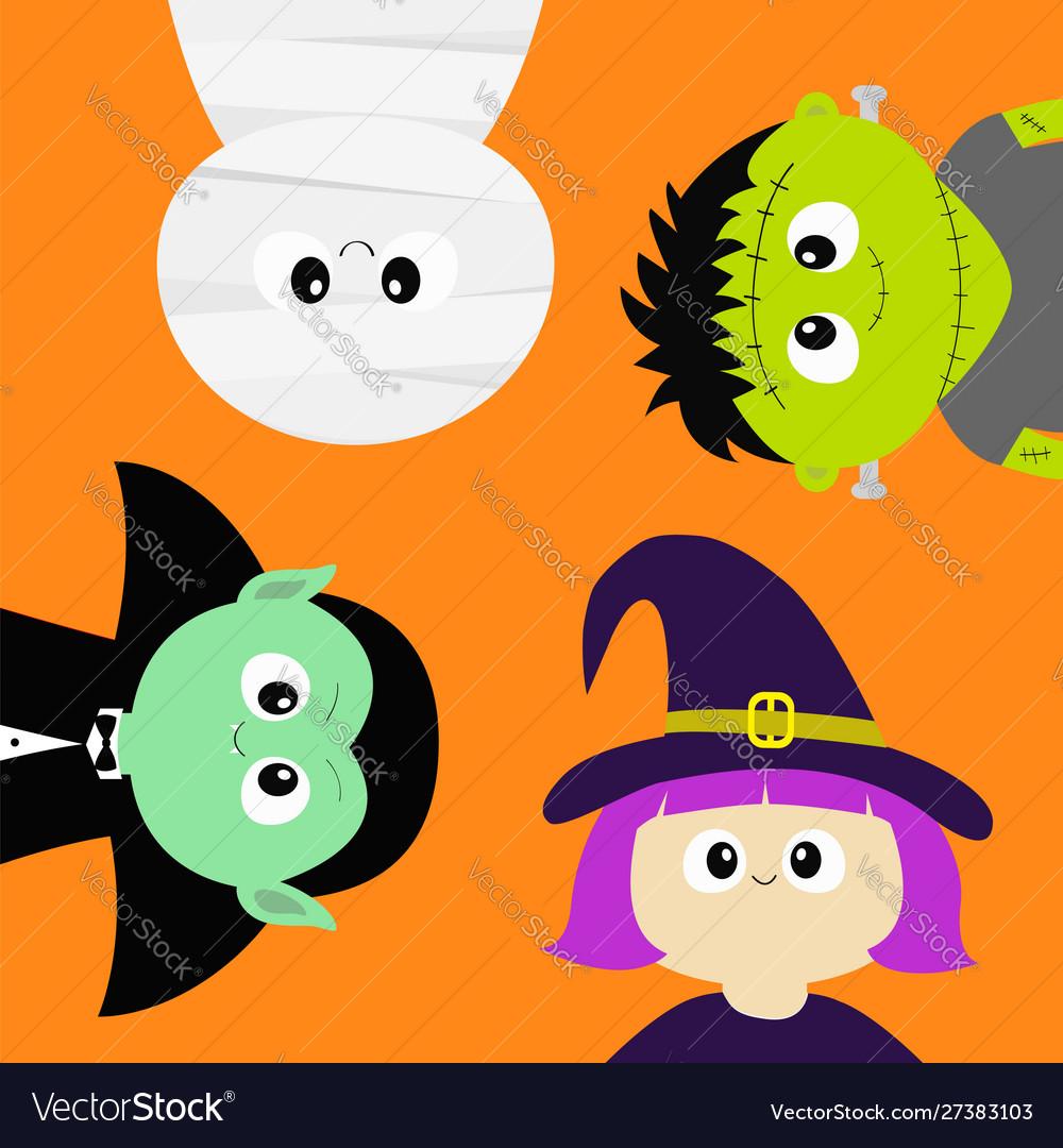 Happy halloween mummy vampire count dracula