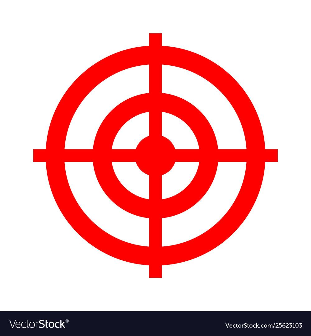 target aim icon target symbol cross aim sign vector image vectorstock