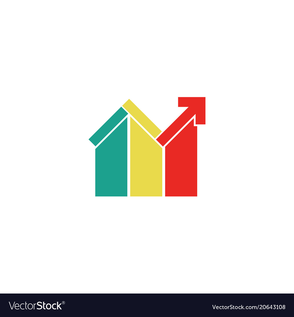 Colored realty home logo