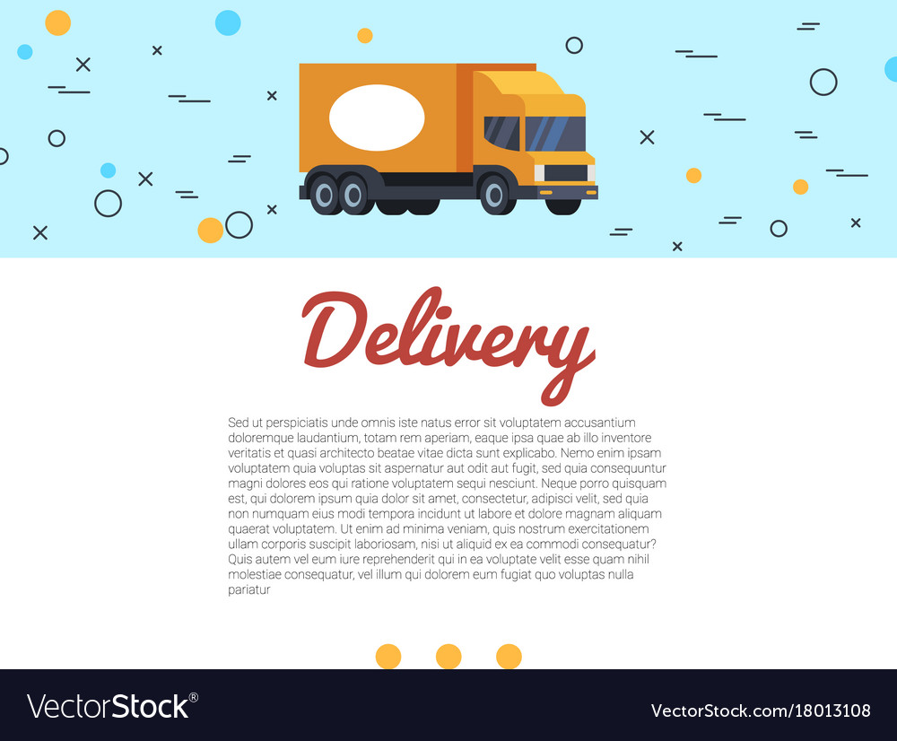 Delivery cargo truck and hand