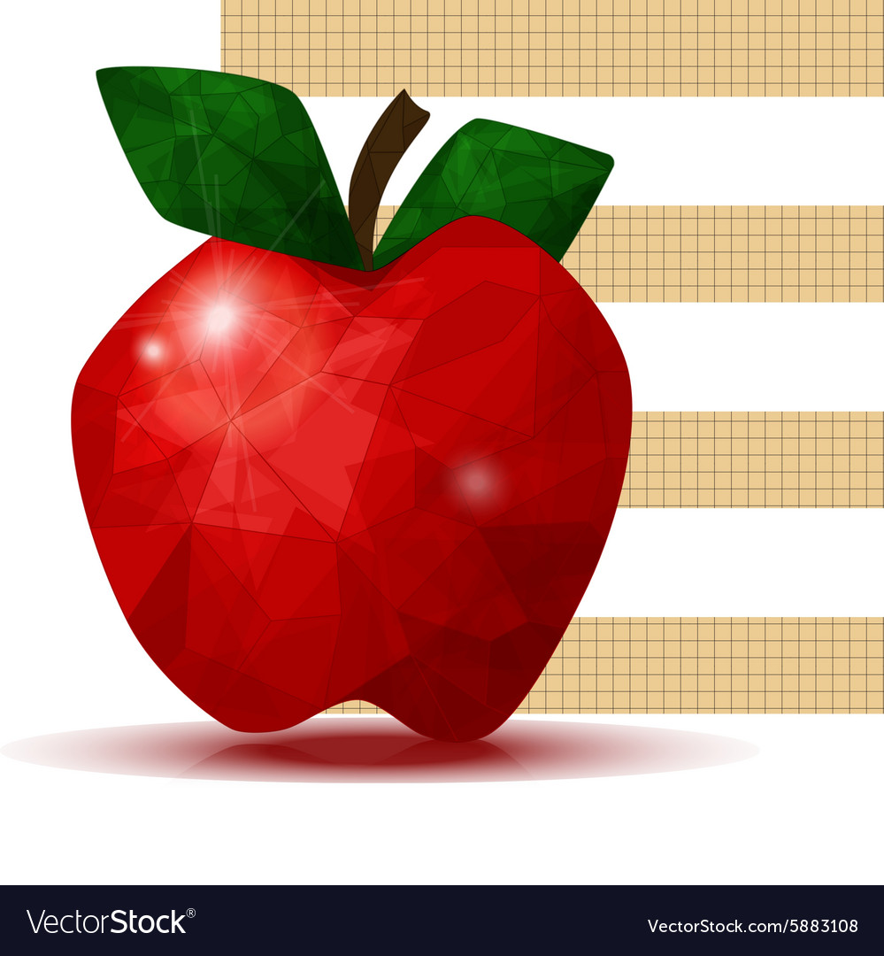 Faceted apple