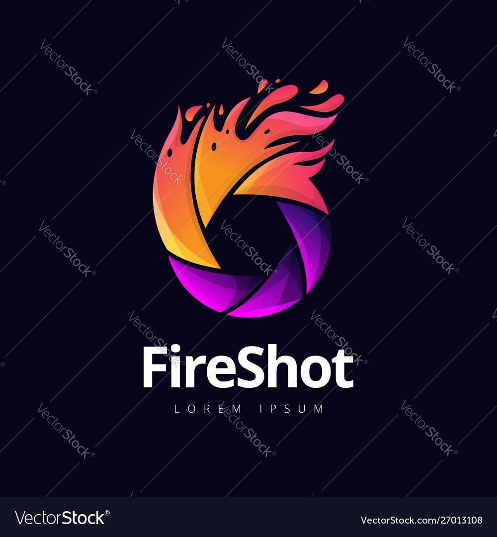 Fire shutter photography logo design