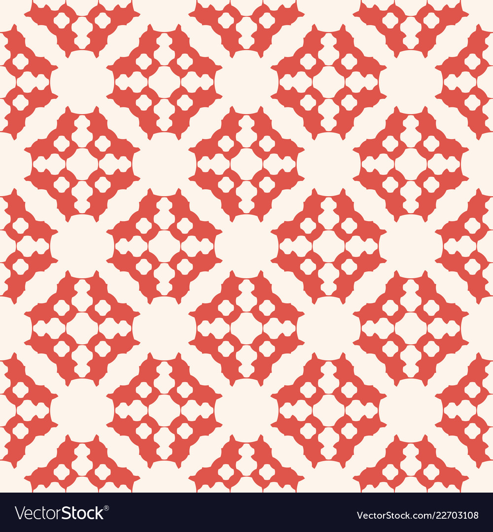 Geometric floral seamless pattern abstract red