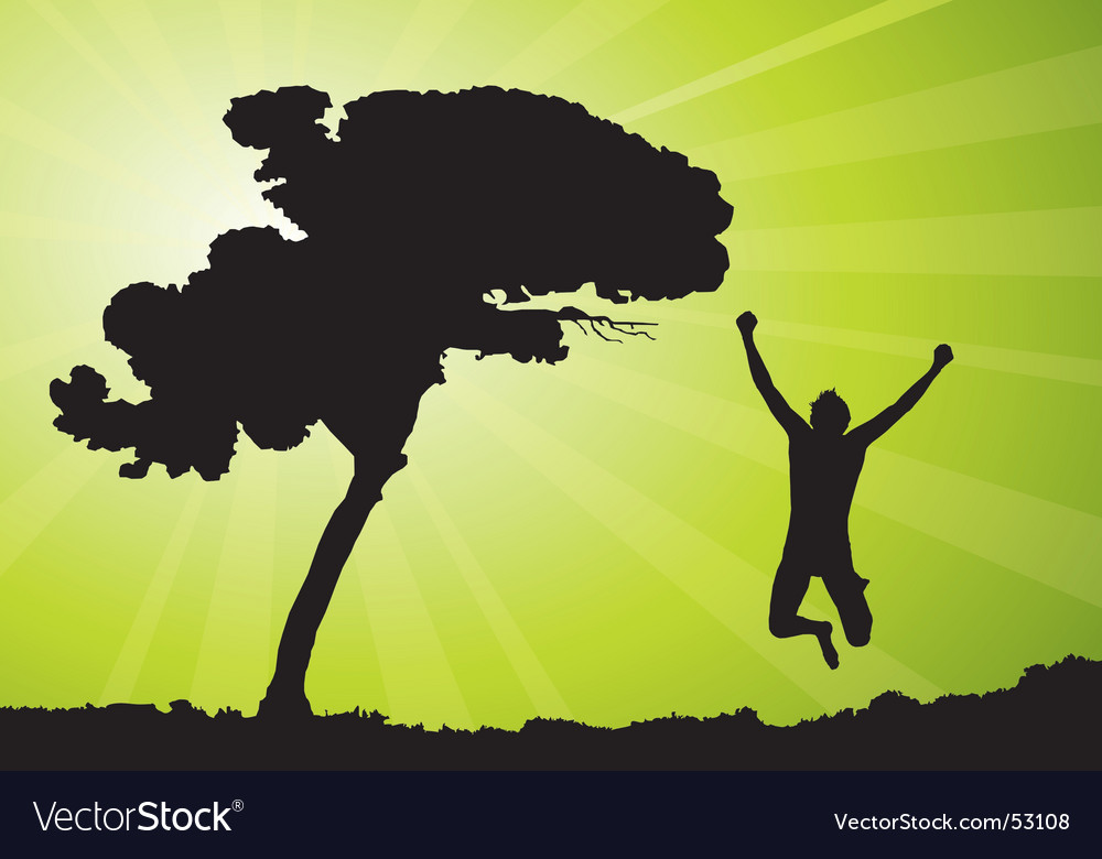 Man jumping illustration vector image