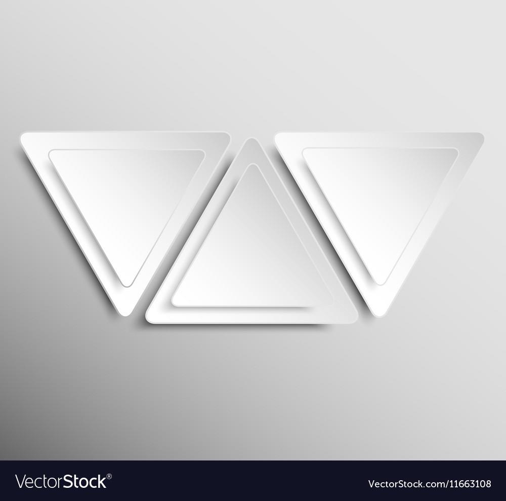 Paper Banner Design Mockup Triangle