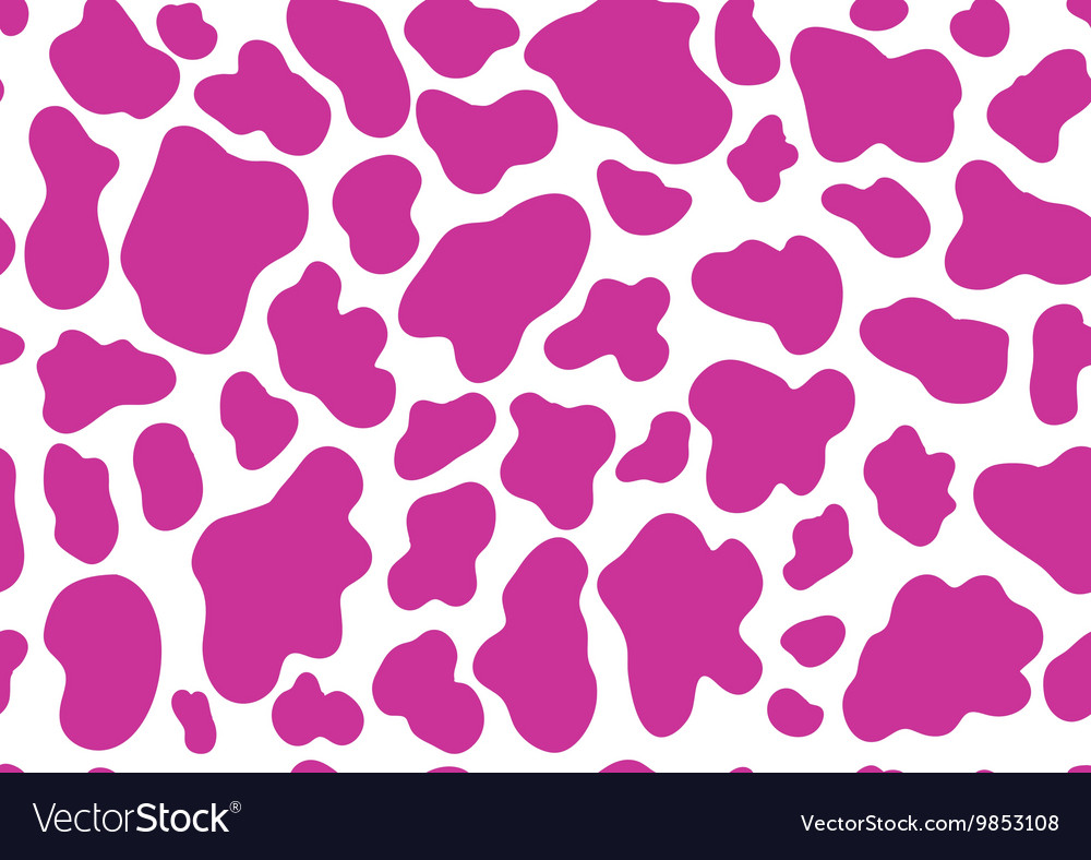 Pink cow pattern vector image