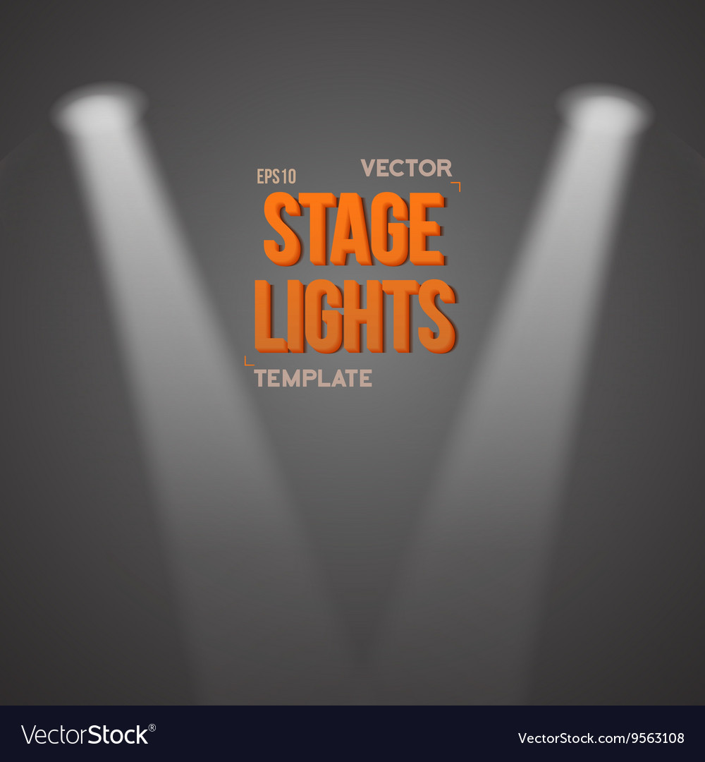 Transparent Light Effect Bright Stage vector image