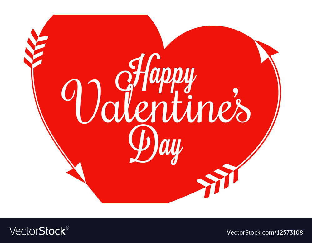 Valentines Day Border Heart Background vector image