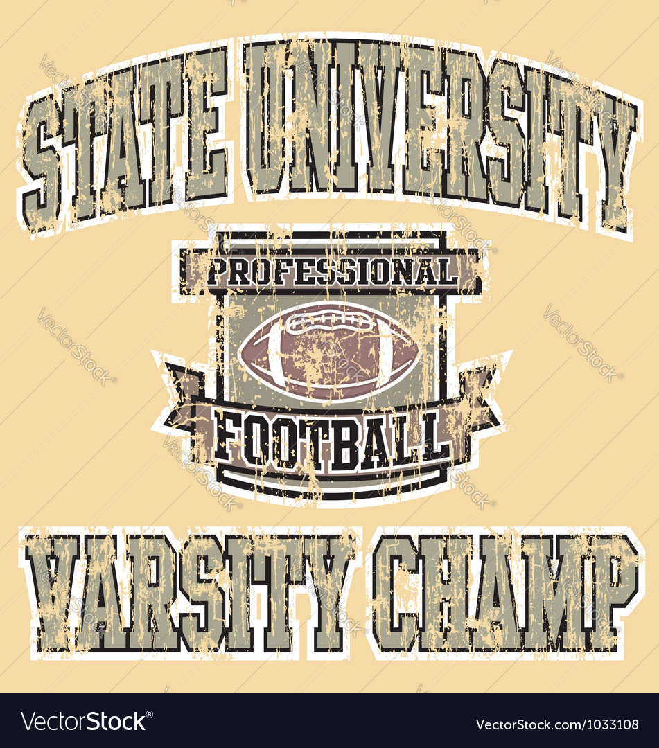 Varsity champ football vector image