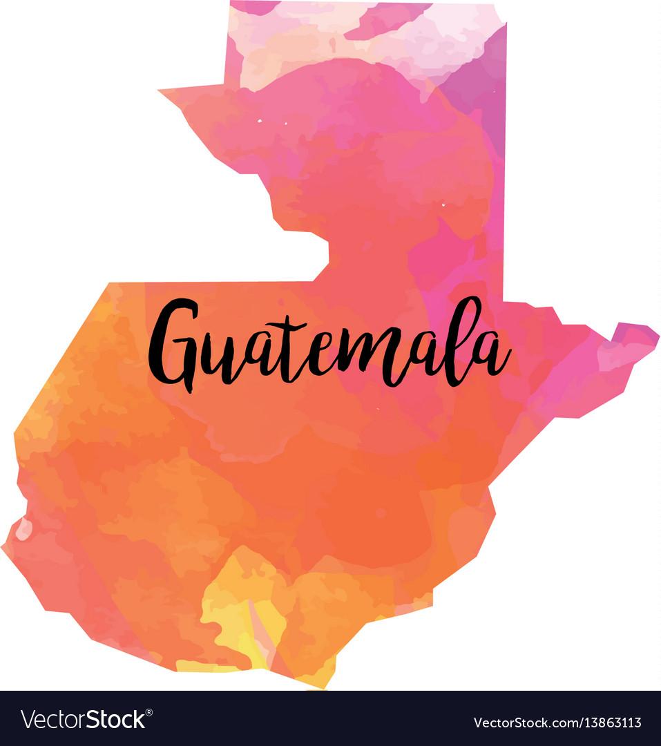 Abstract guatemala map