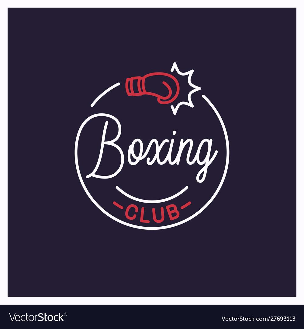 Boxing club logo round linear logo boxing