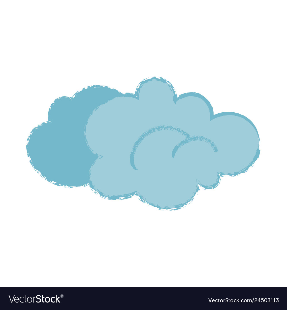 Cartoon cloud with trendy noisy texture isolated