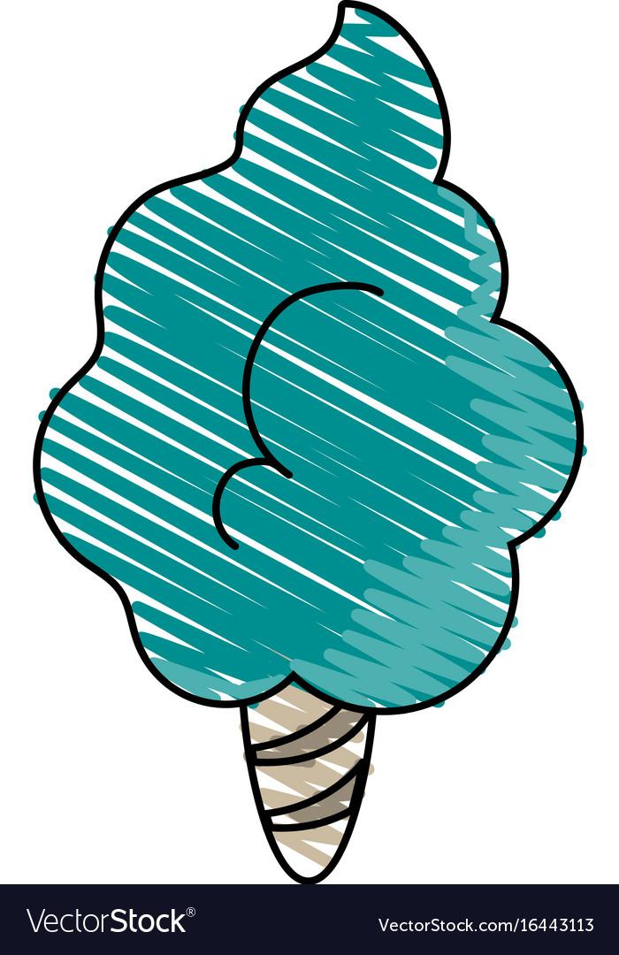 Delicious cotton candy icon imag