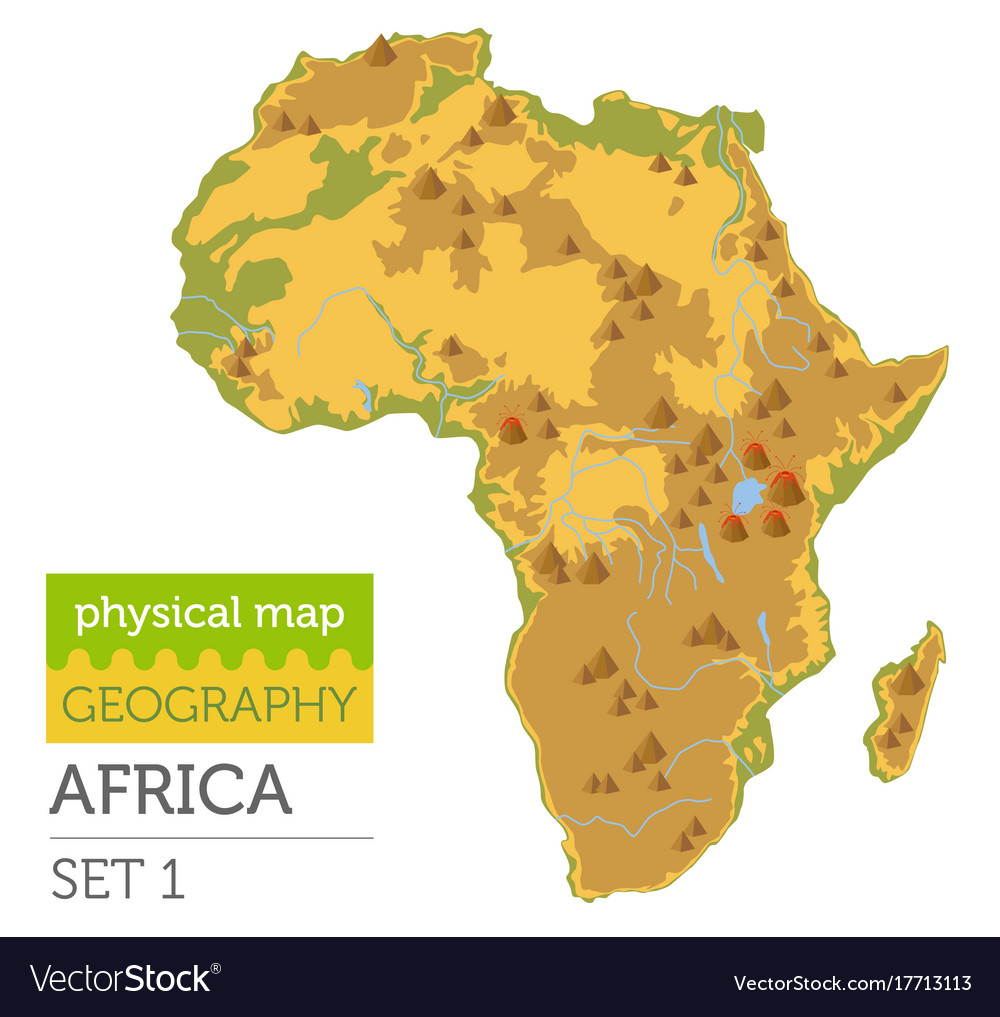 Map Of Africa Physical.Flat Africa Physical Map Constructor Elements