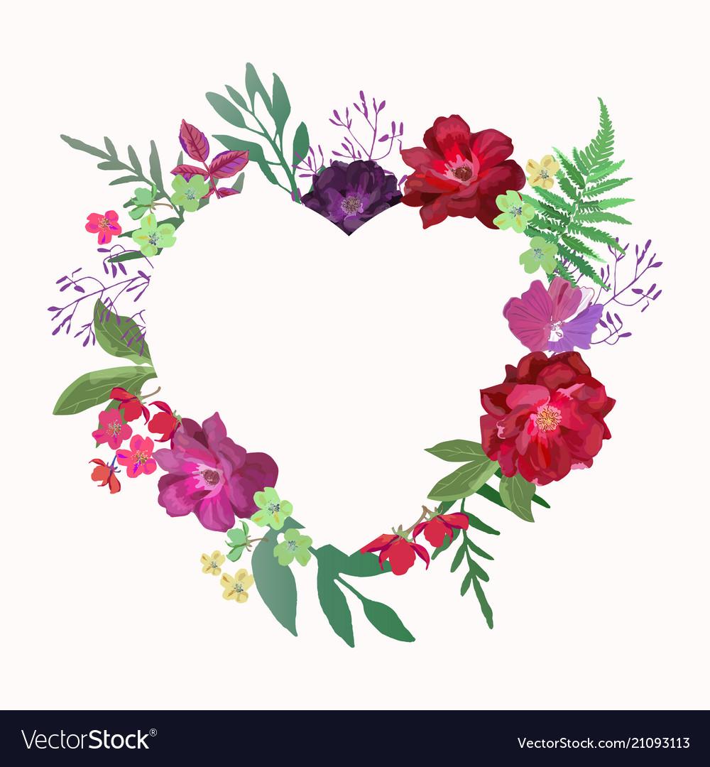 Flowers heart beautiful paper art pink design
