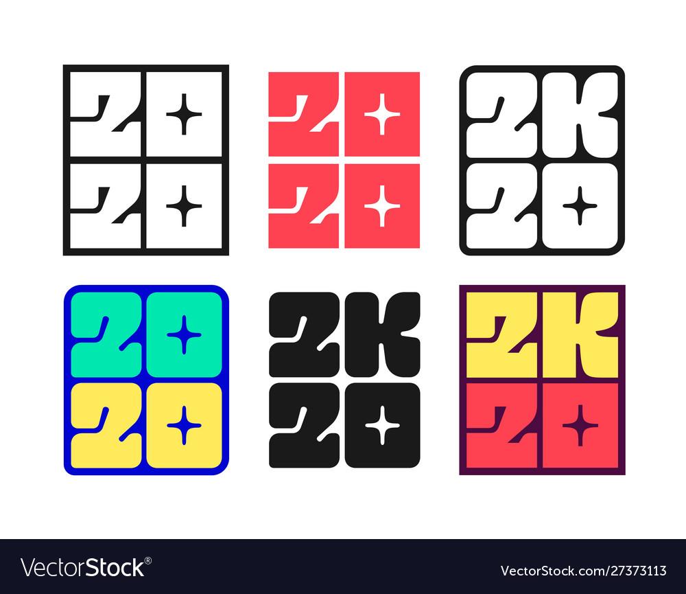 Set new year 2020 badges