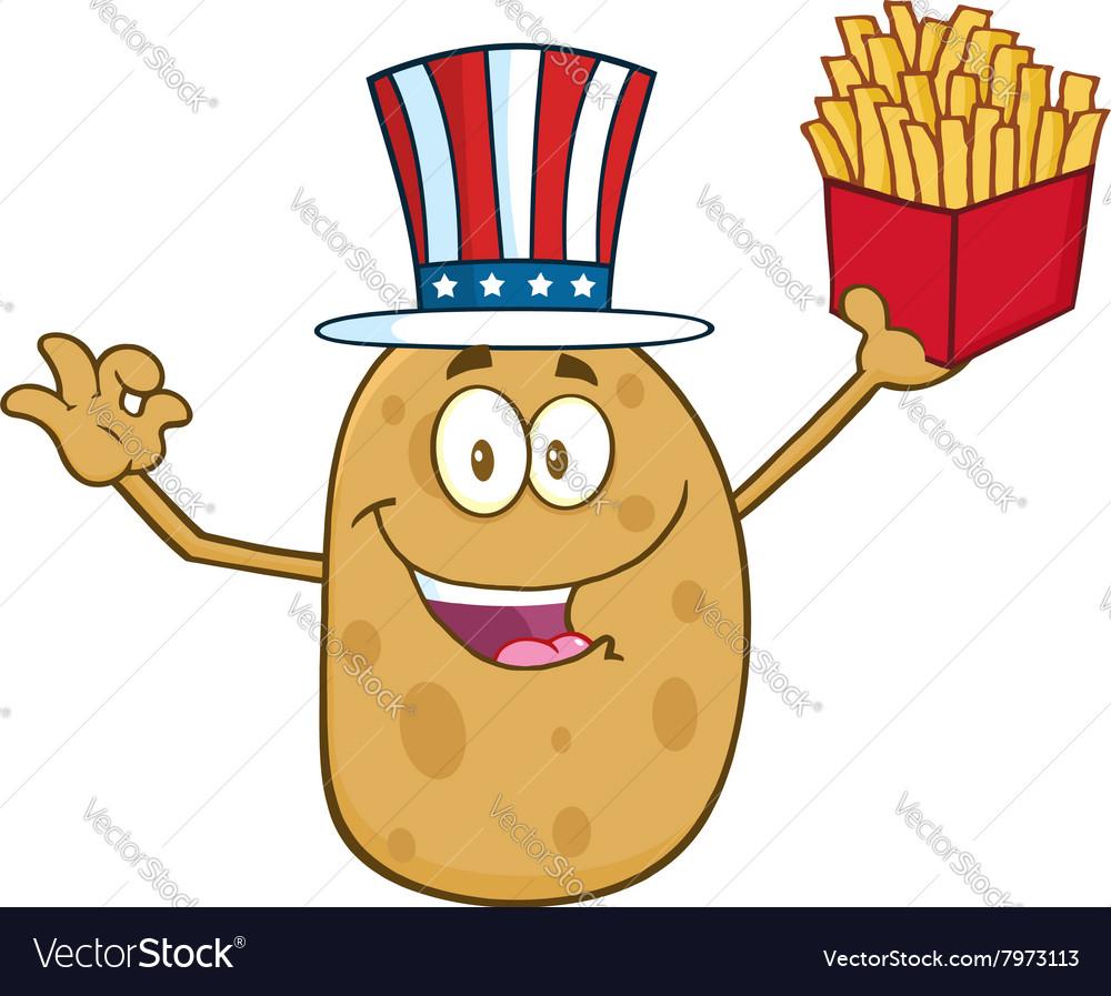 Uncle Sam Potato Cartoon
