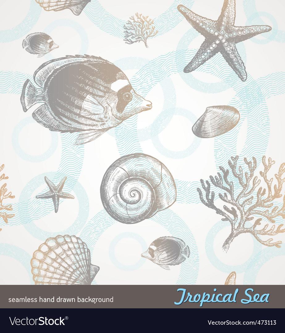 Underwater world vector image