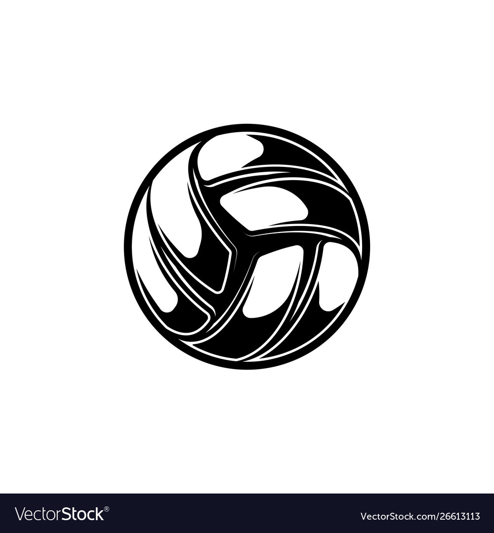 Volleyball black symbol with shadows