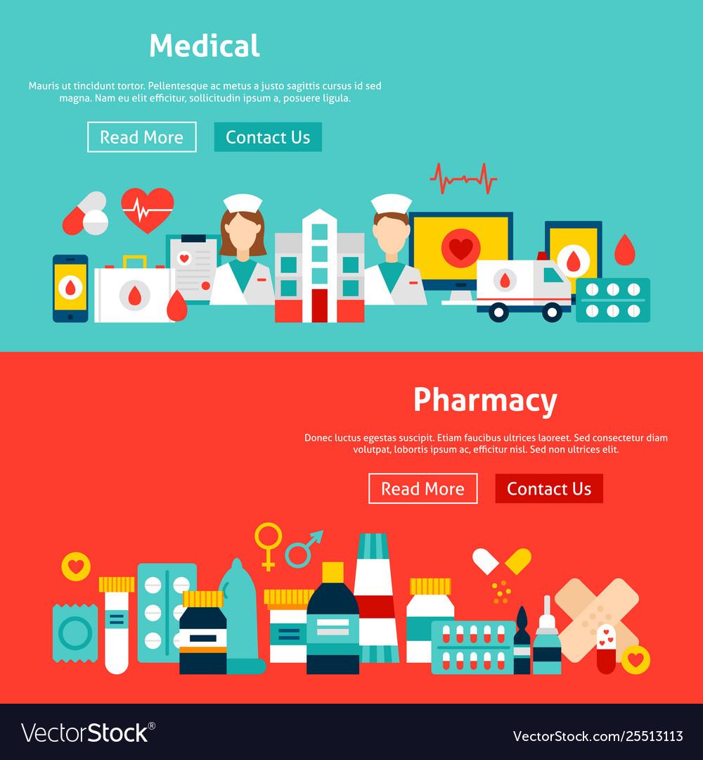 Website medicine banners