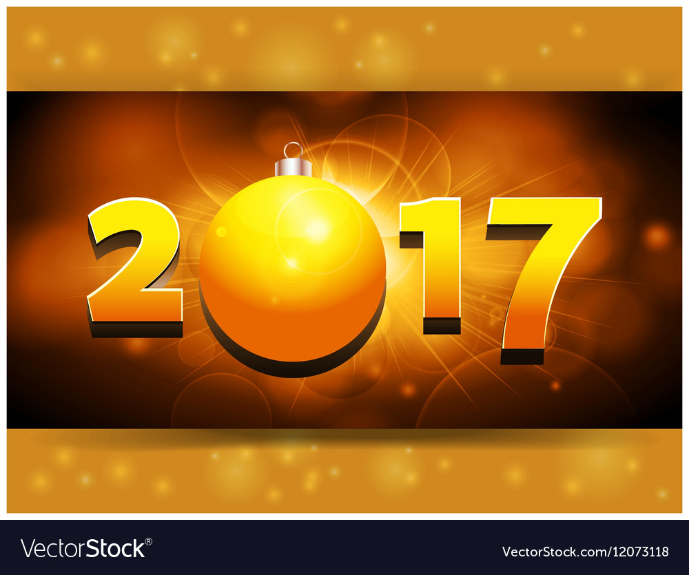 2017 landscape panel background with Christmas vector image