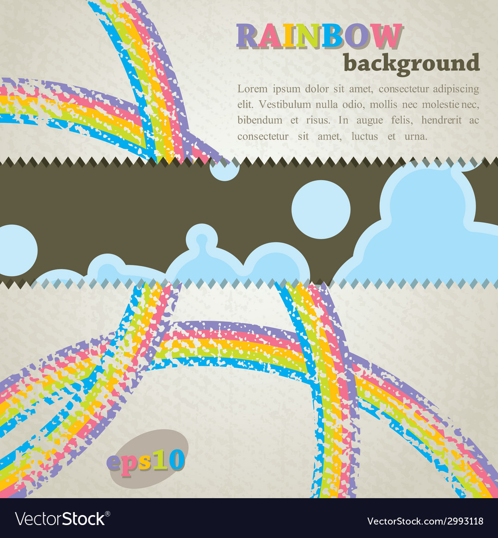 Abstract retro background with rainbow
