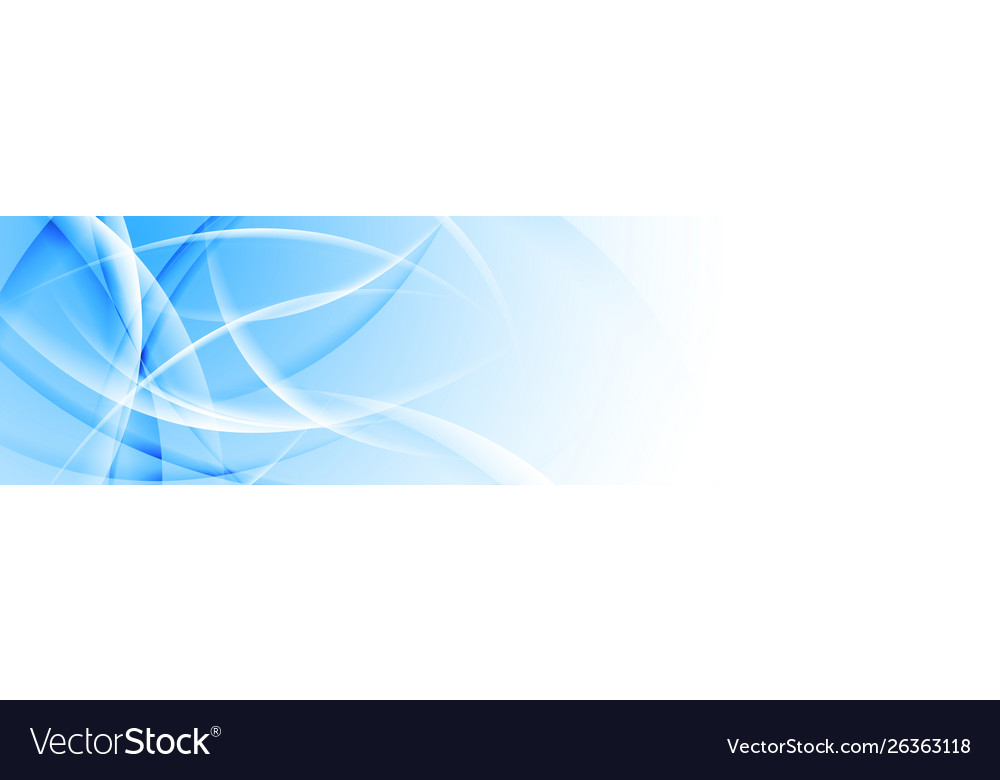 Abstract smooth glossy waves banner design