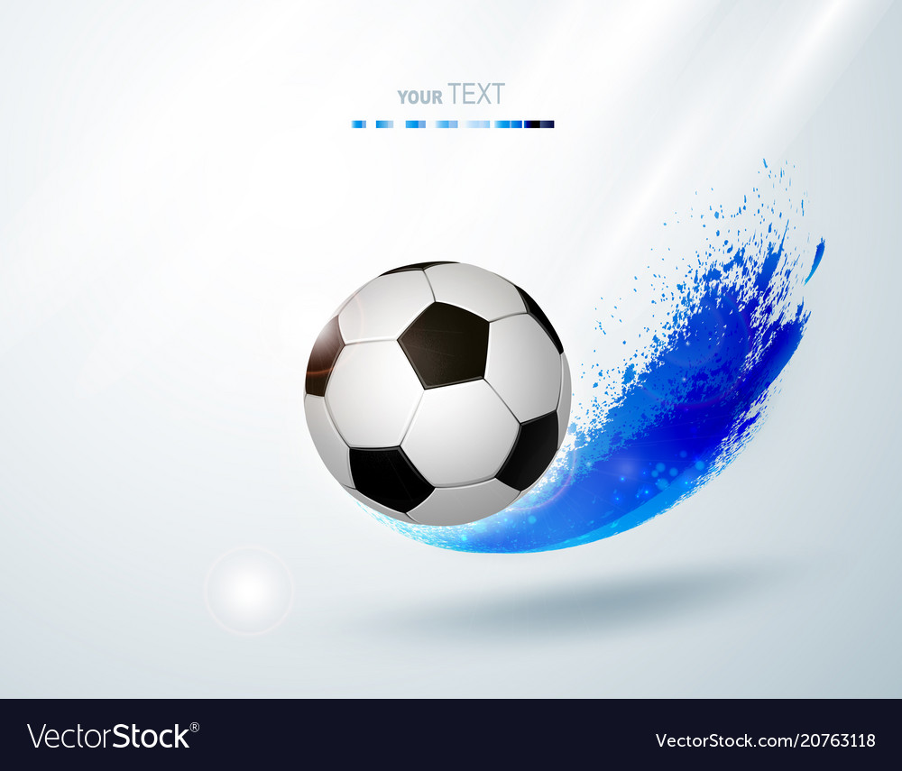 Black and white soccer ball with creative design