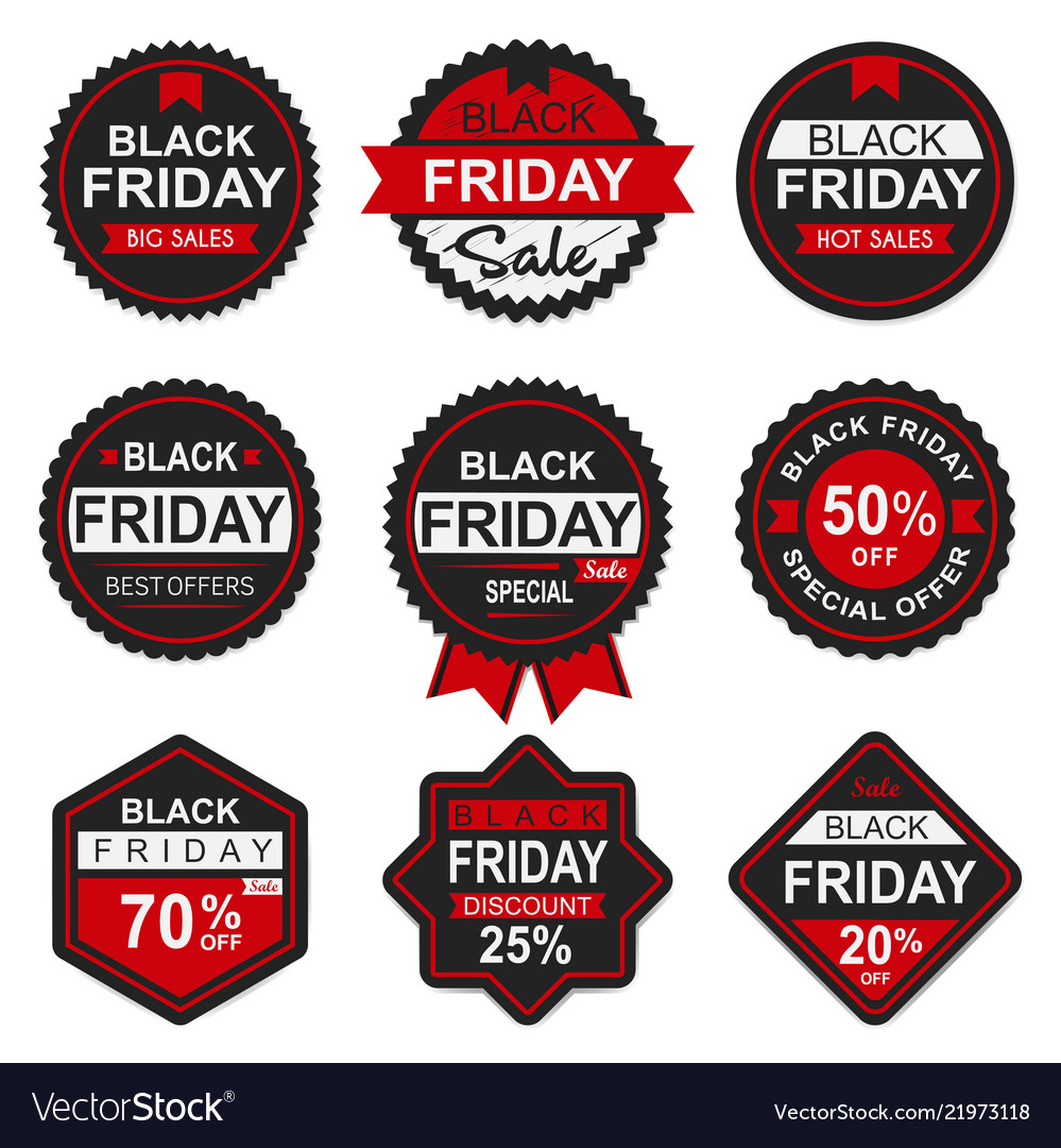 Black friday sale discount seal and labels