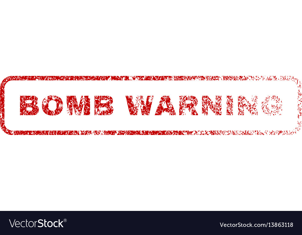 Bomb warning rubber stamp