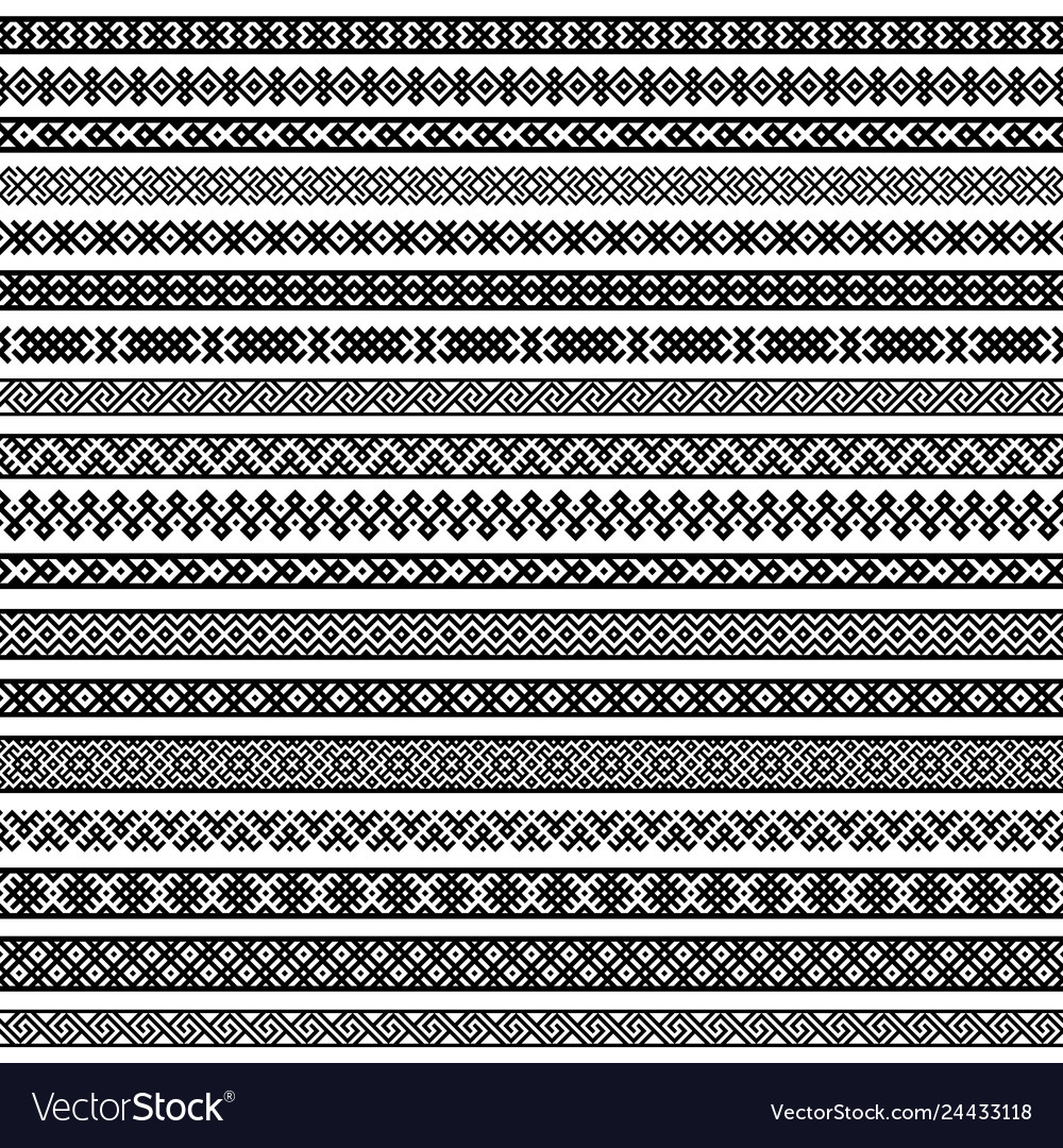 Border decoration elements patterns in black and