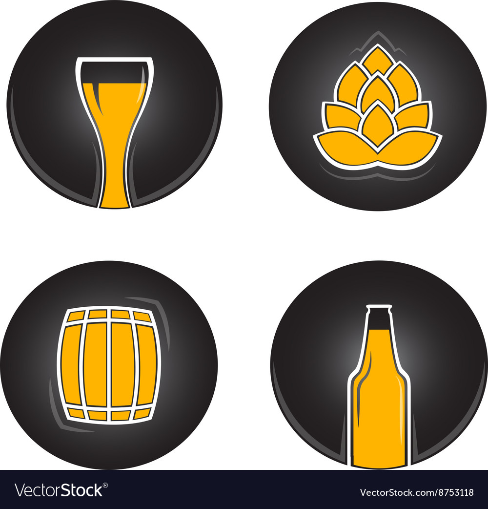 Colorful beer icons