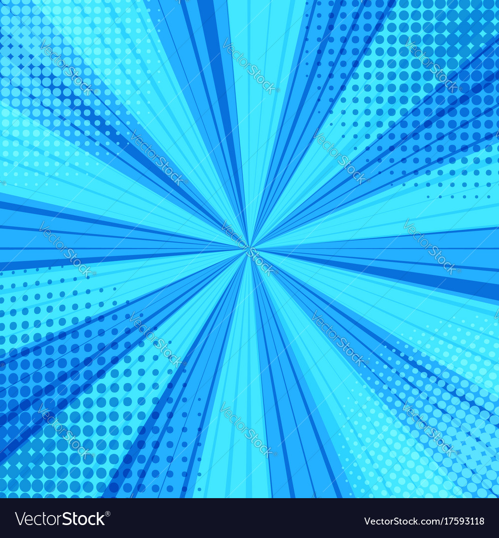 Comic Book Page Blue Blank Background Vector Image