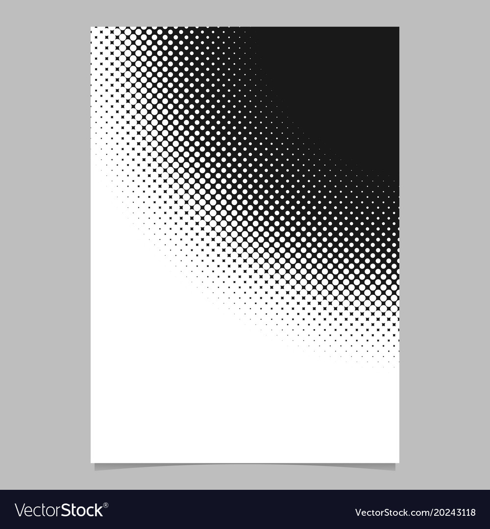 Halftone circle pattern background poster