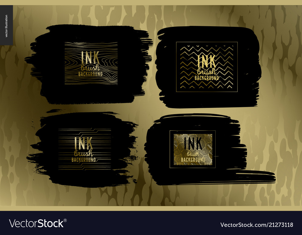 Ink brush background group set