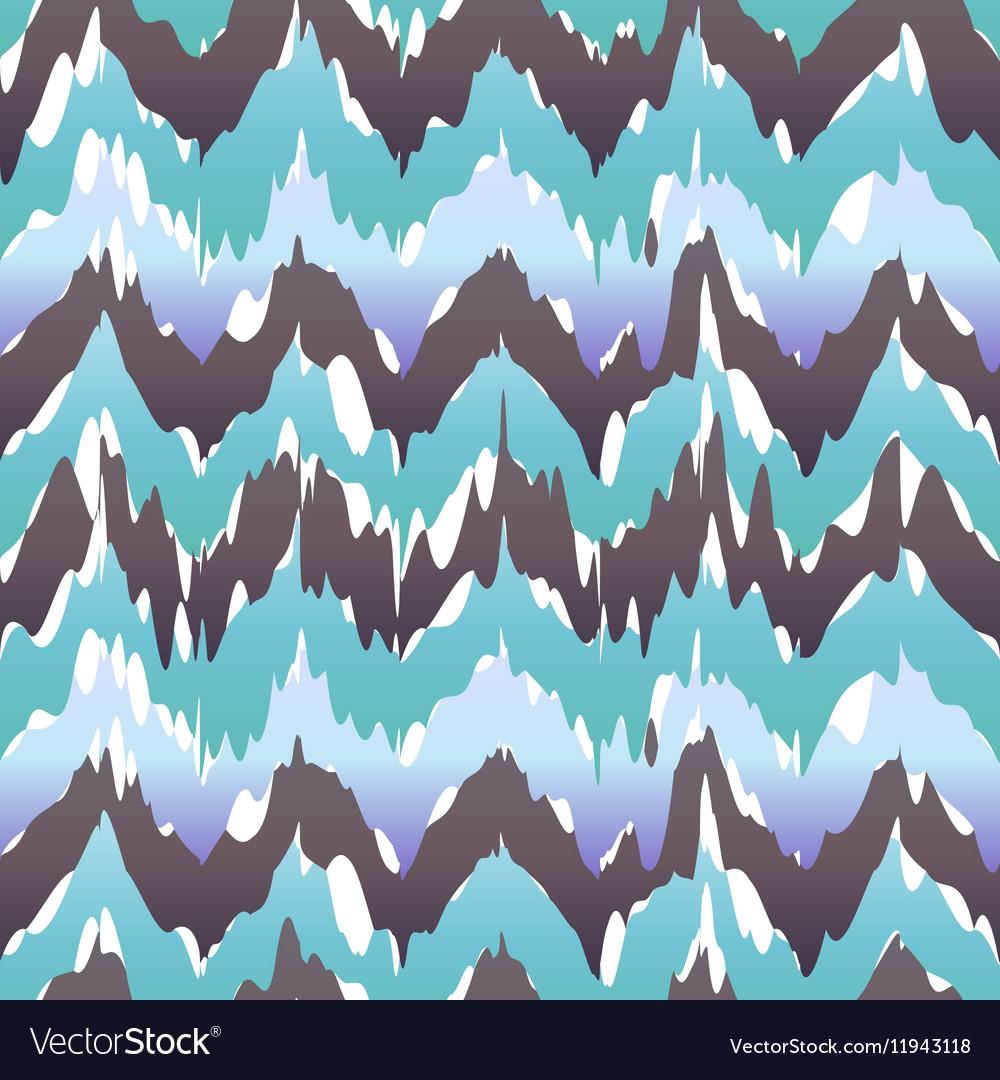 Seamless Ikat Chevron Background Pattern blue cool