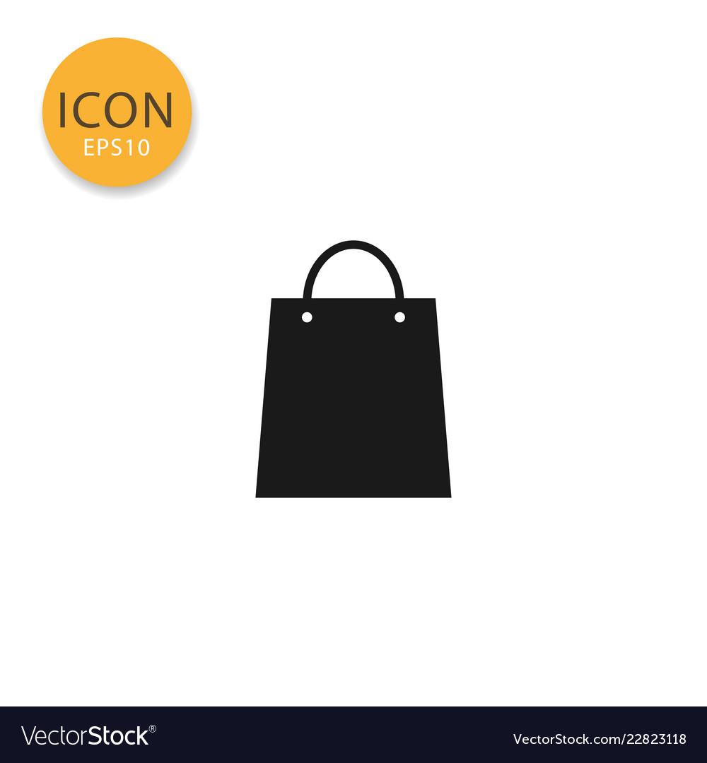 Shopping bag icon isolated flat style