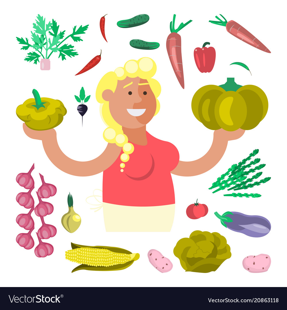 Vegetable seller character