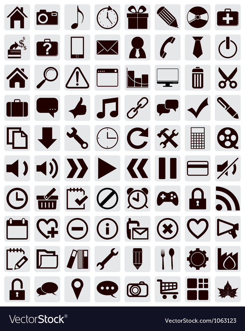 80 different web icons
