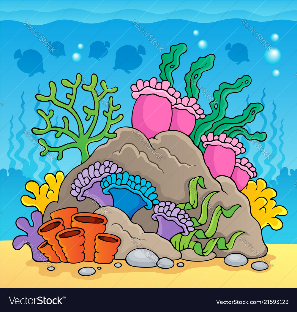 coral reef theme image 2 royalty free vector image