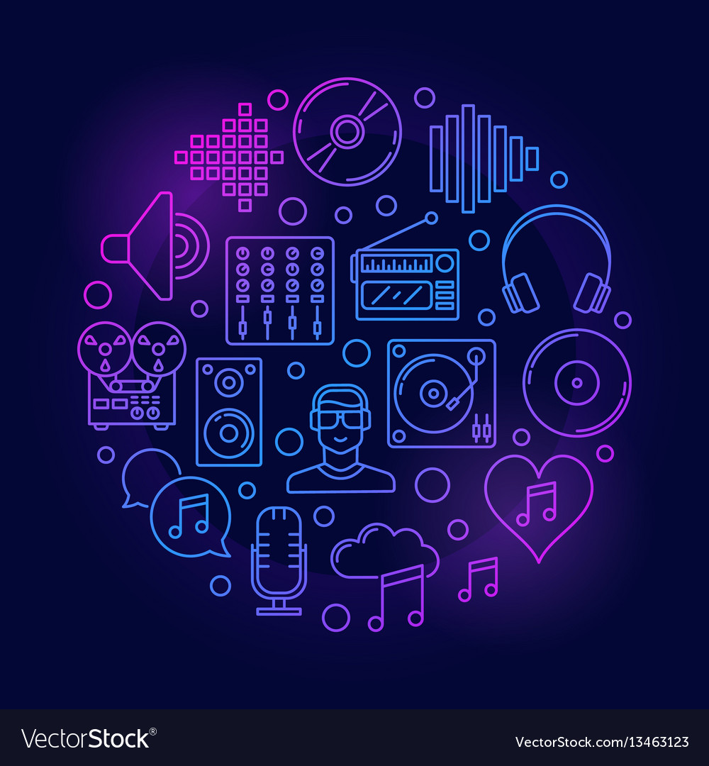 Creative colorful music vector image