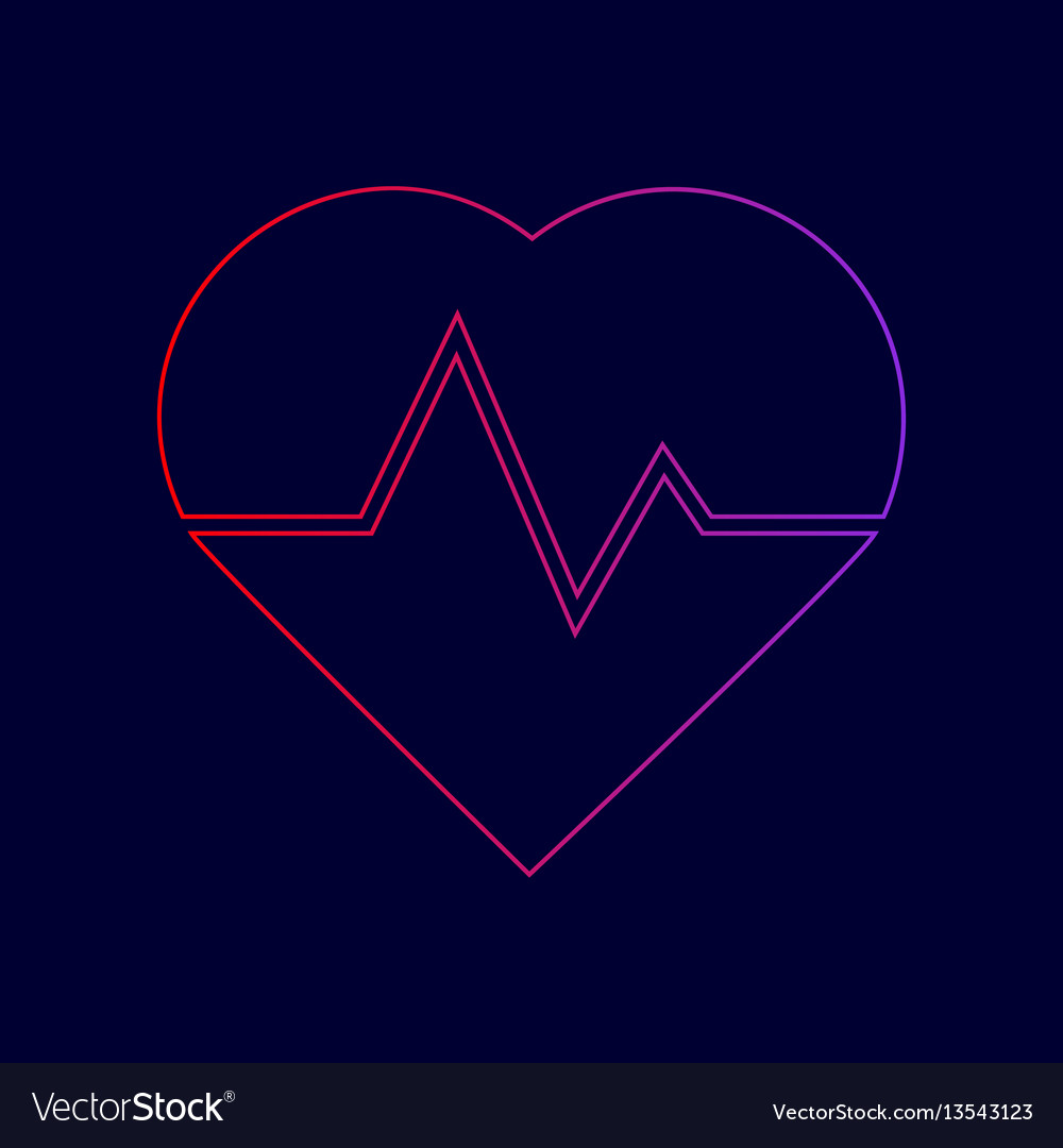 Heartbeat sign line icon