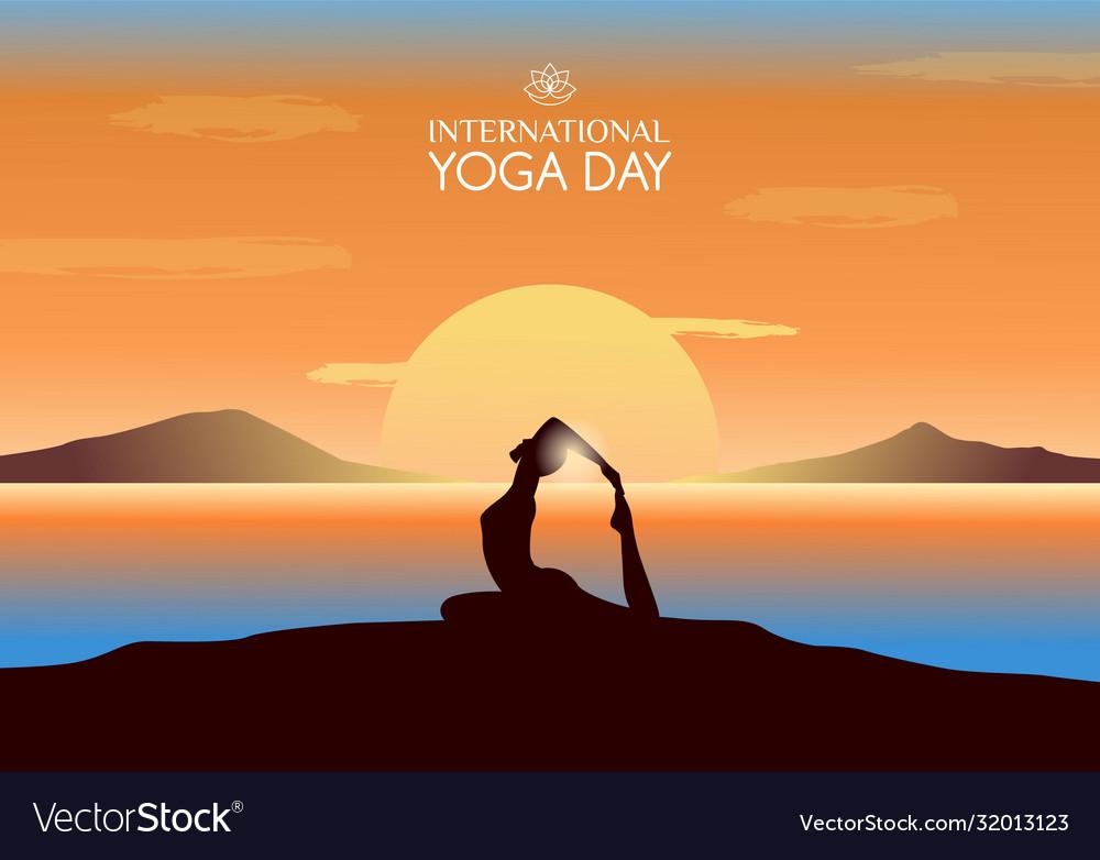 International yoga day banner