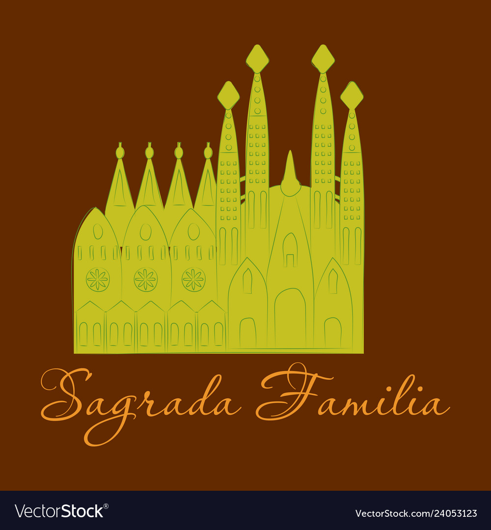 May 15 2014 a of la sagrada familia the cathedral vector image