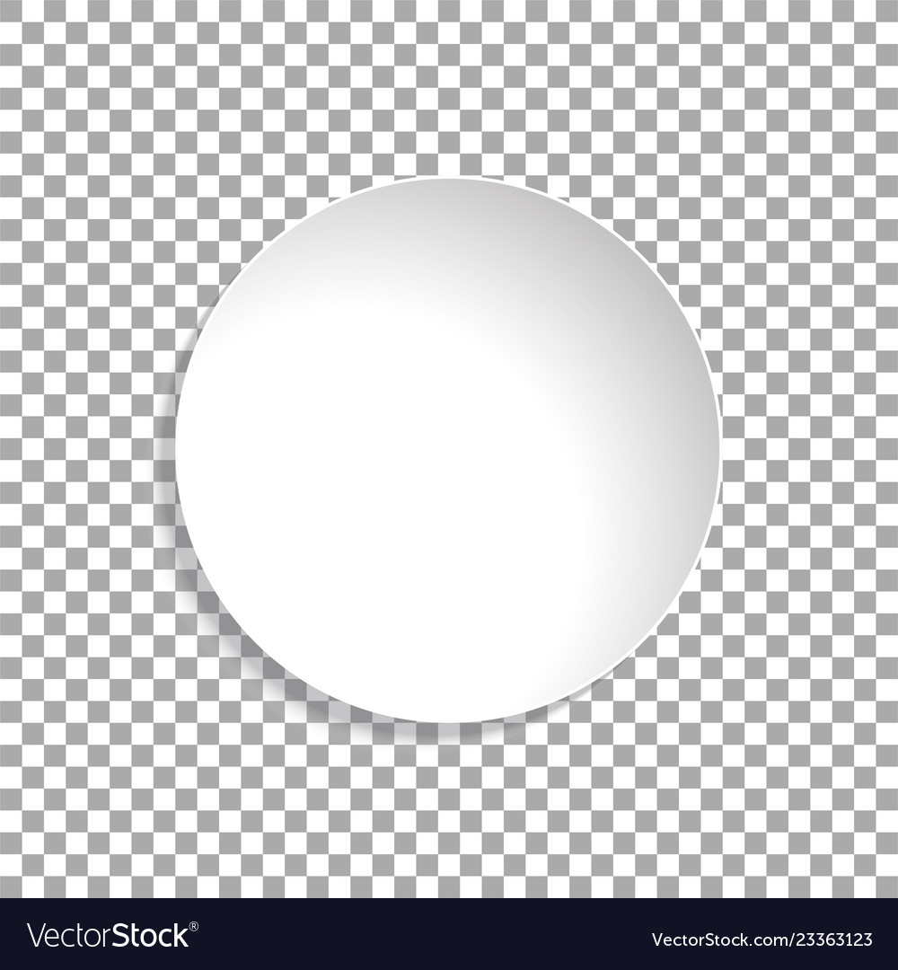 Paper circle sticker isolated